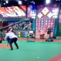 Sean Casey Drilled a Liner Right Off Co-Host Lauren Shehadi's Dome